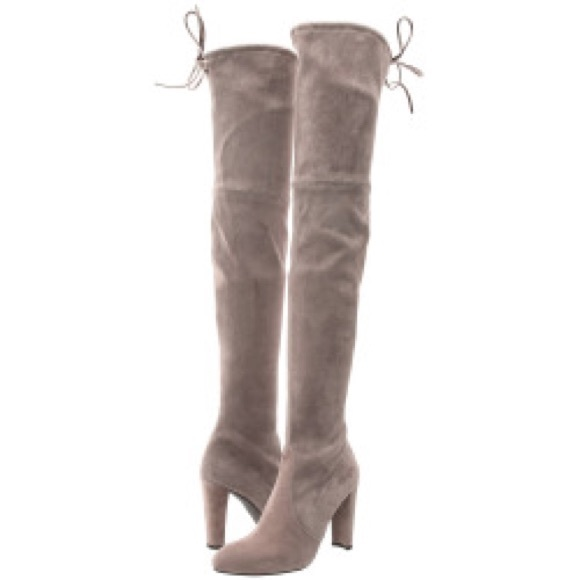 ba4b9798c72 NEW Stuart Weitzman Highland Boots in Taupe Topo